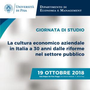 La cultura economico aziendale in Italia a 30 anni dalle riforme nel settore pubblico