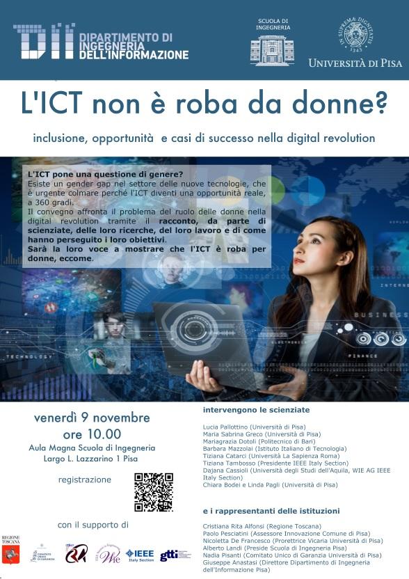 Convegno L'ICT non è roba da donne? Ingegneria 09 11 2018