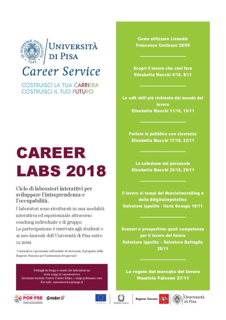 Seminari Career Labs 2018 Università di Pisa