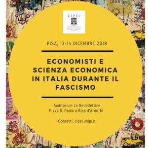 Economisti e Scienza Economica in Italia durante il Fascismo