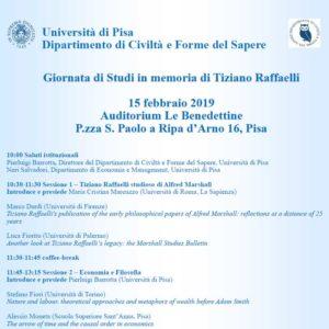 Giornata di Studi in memoria di Tiziano Raffaelli Convegno del Dipartimento di CIviltà e Forme del Sapere