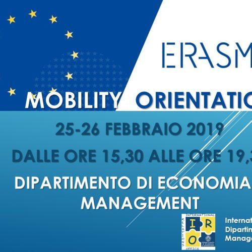 ERASMUS ORIENTATION DAY: 25-26 FEBBRAIO 2019