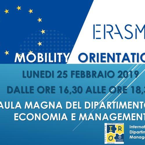 """""""Erasmus+ Orientation Day"""" Dipartimento di Economia e Management"""