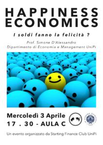 Happiness Economics 3 Aprile 2019
