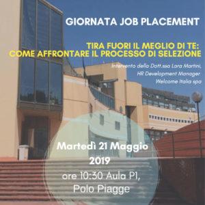 Giornata Job Placement – Martedì 21 Maggio 2019