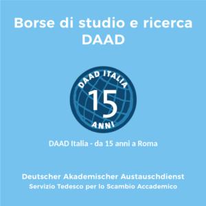 Borse di studio e ricerca DAAD (scadenza 01/12/ 2019)