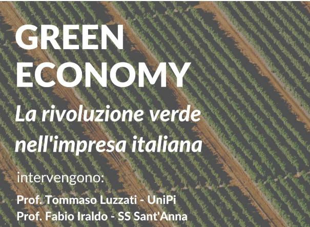 """Green Economy """"La rivoluzione verde nell'impresa italiana"""""""