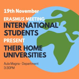 International students present their home universities