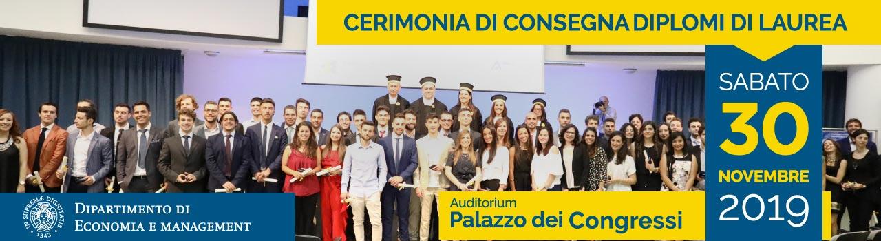 Cerimonia Consegna Diplomi Laurea Novembre 2019