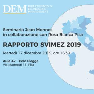 """Seminario """"Rapporto SVIMEZ 2019"""""""