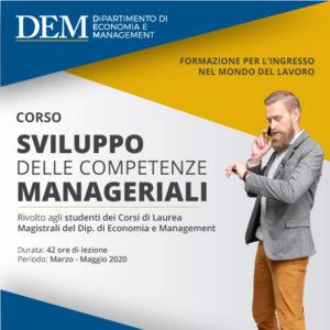 Sviluppo delle Competenze Manageriali: un nuovo corso rivolto agli studenti del DEM