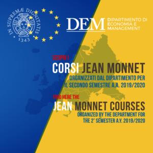 CorsiJean Monnet attivati nel secondo semestre dell'a.a. 2019/20
