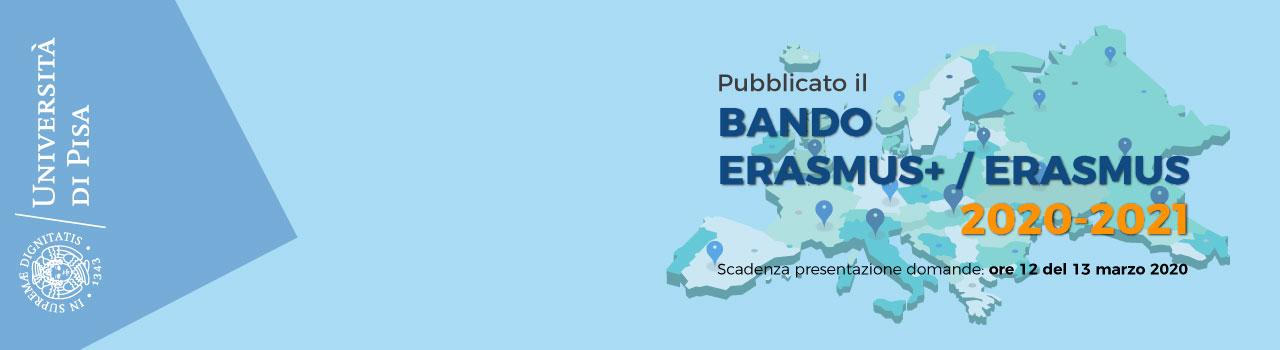 Bando Erasmus/Erasmus+ 2020-2021