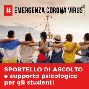 Emergenza Corona Virus – Sportello di ascolto e supporto psicologico per gli studenti (su piattaforma telematica)