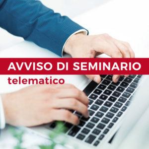 Avviso di seminario telematico