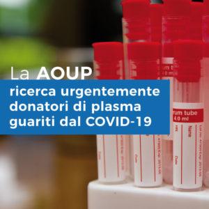 L'AZIENDA OSPEDALIERA UNIVERSITARIA PISANA ricerca urgentemente donatori di plasma guariti dal COVID-19