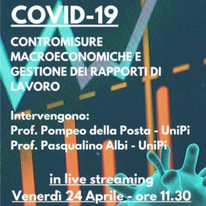 """Seminario """"COVID-19: contromisure macroeconomiche e gestione dei rapporti di lavoro"""""""