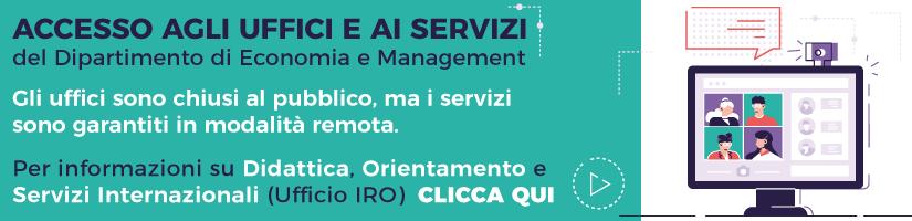 Come contattare il Dipartimento di Economia e Management di Pisa