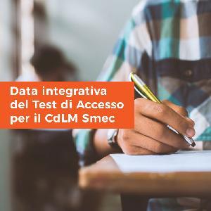 Data integrativa del Test di Accesso per il Corso di Laurea Magistrale in Strategia, Management e Controllo