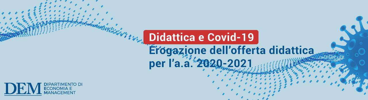 Economia Pisa Didattica e Covid-19 a.a. 2020 21