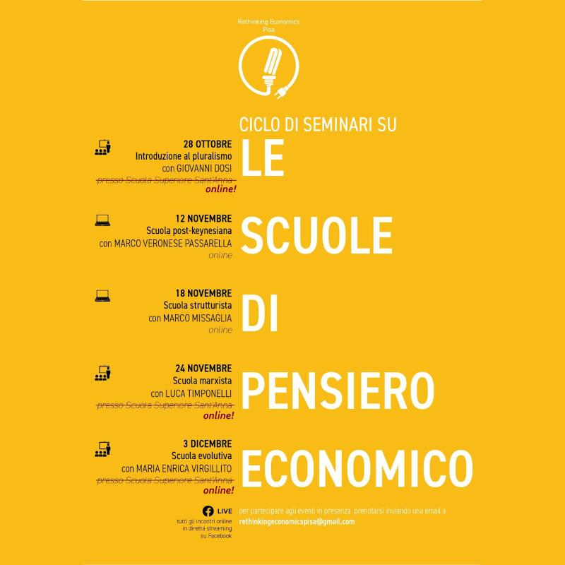 Ciclo di Seminari Online sulle Scuole di Pensiero Economico