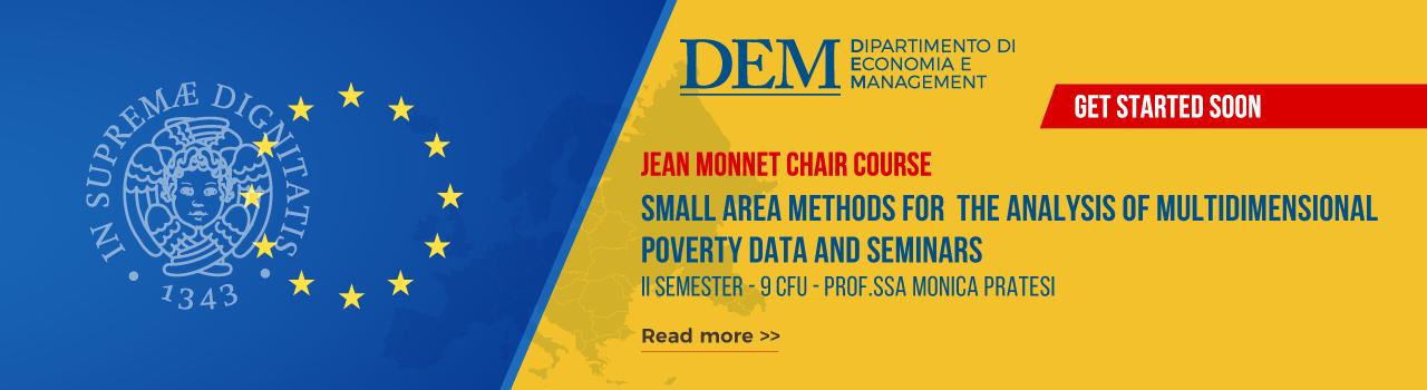 Corsi Jean Monnet II Semestre Dipartimento di Economia e Management Unipi