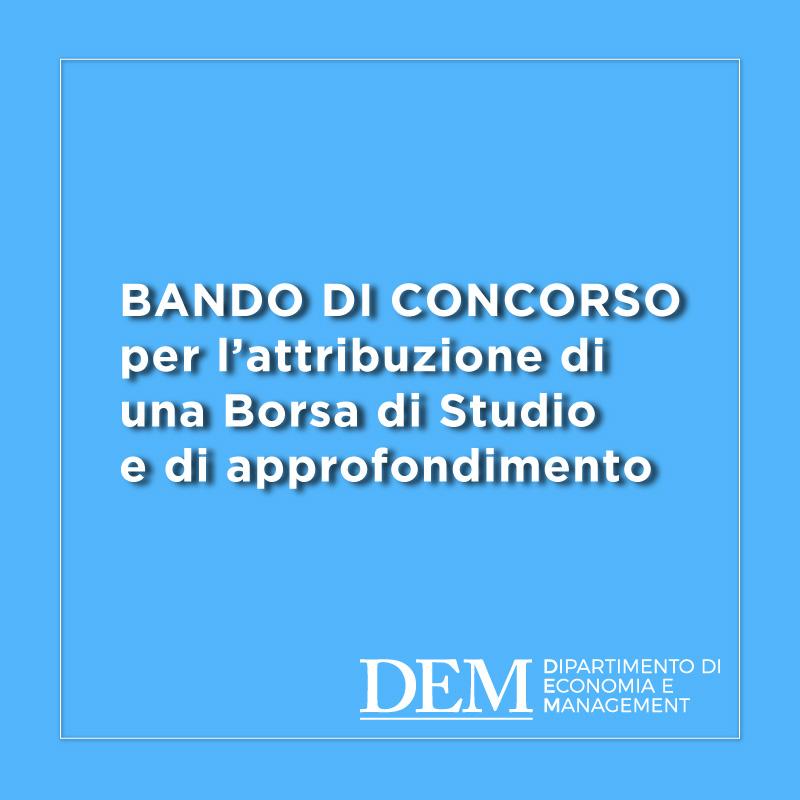 Bando per Borsa di Studio finanziata dalla Fondazione VERSO