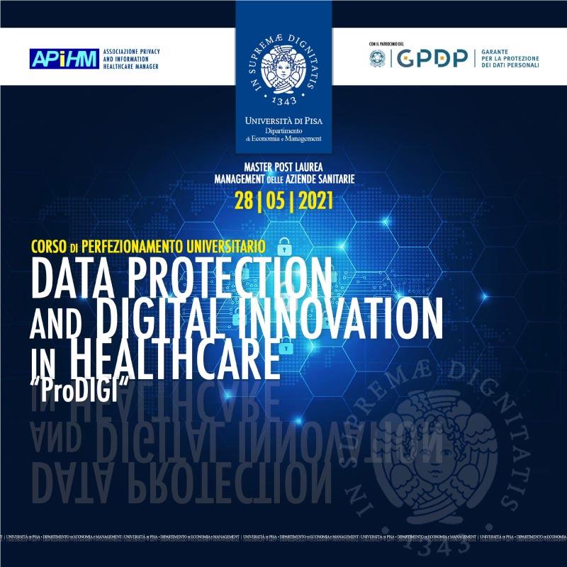 """Corso di Formazione in """"Data Protection and Digital Innovation in Healthcare"""" – A.A. 2020/21"""