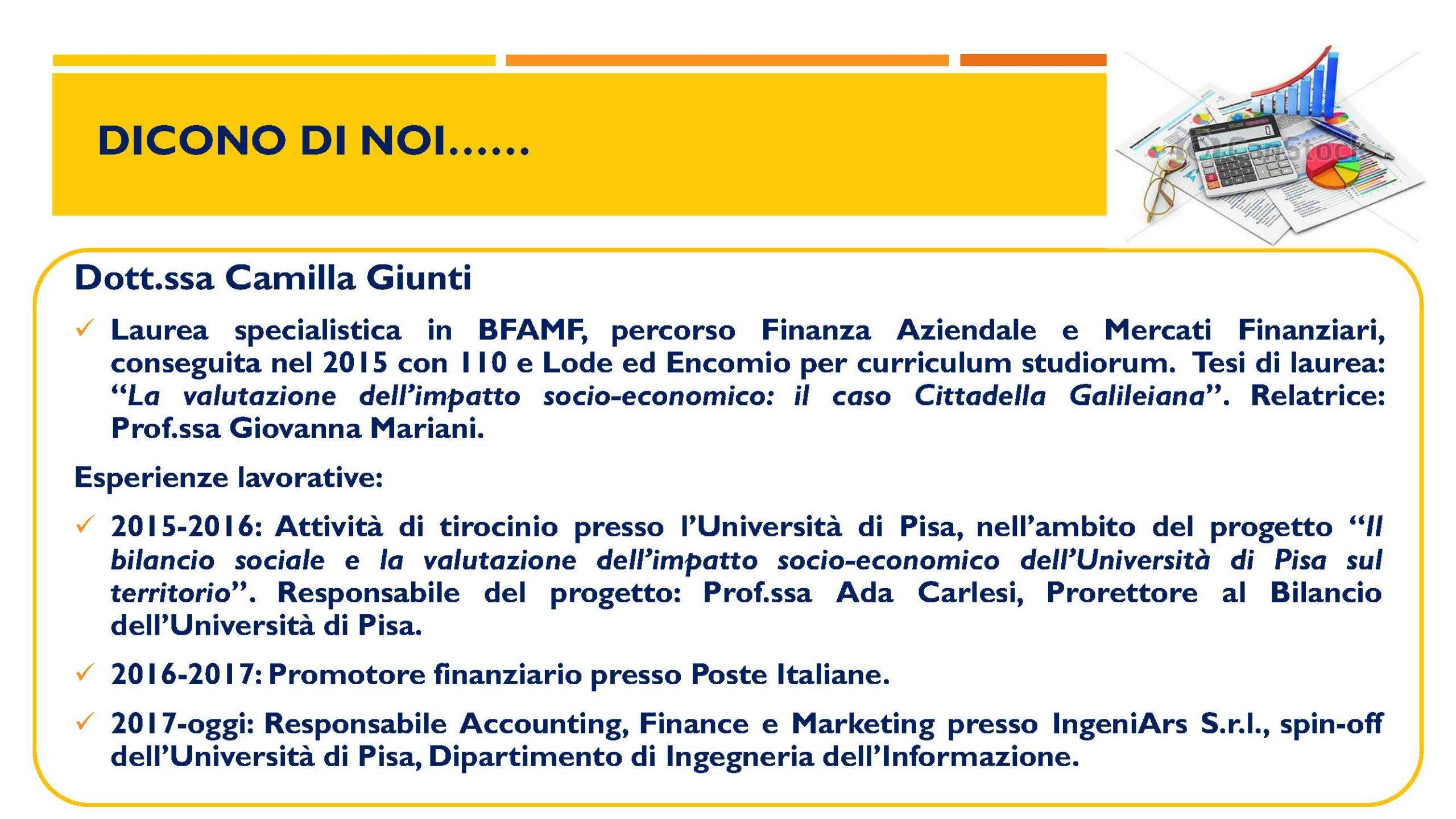 Corso di Laurea Magistrale in Banca, Finanza Aziendale e Mercati Finanziari