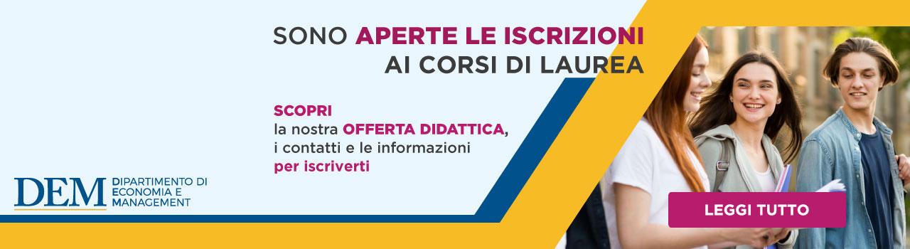 Iscriversi ai Corsi di Economia Pisa