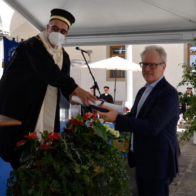 Conferimento dell'Ordine del Cherubino al Prof. Silvio Bianchi Martini